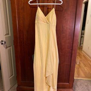BANANA COLOR FORMAL DRESS NWT!
